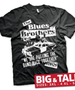 T-shirt Blues Brothers - Band Back Together Big & Tall  grandes Tailles de couleur Noir