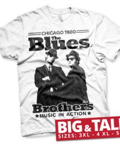 T-shirt Blues Brothers - Chicago 1980 grandes Tailles de couleur Blanc