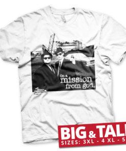 T-shirt Blues Brothers Photo grandes Tailles de couleur Blanc