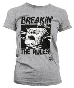 T-Shirt Breakin' The Rules pour Femme de couleur Gris Chiné