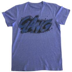 T Shirt Captain America CLANG Tinted  de couleur Bleu