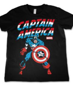 T-Shirt Captain America  pour enfant de couleur Noir