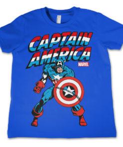 T-Shirt Captain America  pour enfant de couleur Bleu