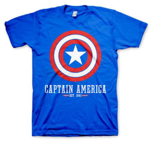 T-shirt Captain America Logo grandes Tailles de couleur Bleu