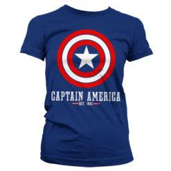 T-Shirt Captain America Logo pour Femme de couleur