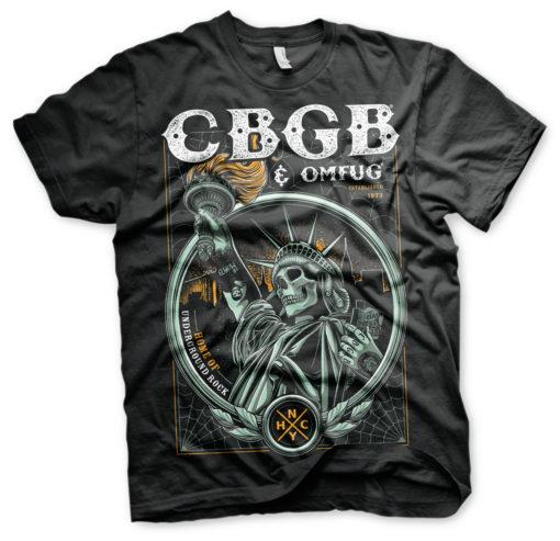 T-Shirt CBGB - Statue of Underground Rock de couleur Noir