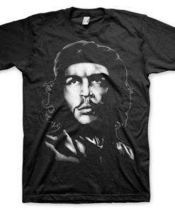 T-shirt Che Guevara B/W grandes Tailles de couleur Noir