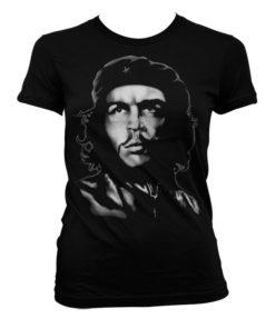 T-Shirt Che Guevara B/W pour Femme de couleur Noir