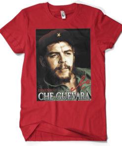 T-shirt Che Guevara Portrait grandes Tailles de couleur Rouge