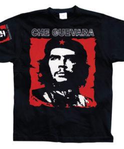 T-shirt Che Guevara Red & White grandes Tailles de couleur Noir