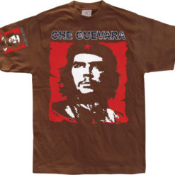 T-shirt Che Guevara Red & White grandes Tailles de couleur Marron