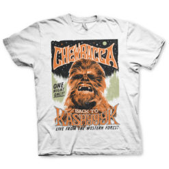 T Shirt Chewbacca - Back To Kashyyyk de couleur Blanc
