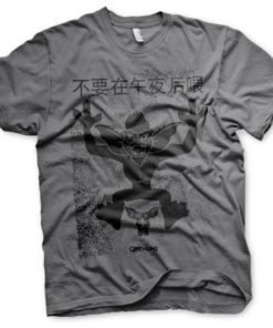 T-Shirt Chinese Gremlins Poster de couleur Gris Foncé