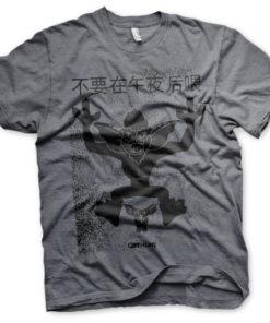 T-Shirt Chinese Gremlins Poster de couleur Gris Sombre