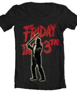 T-Shirt col large Friday The 13th - Jason Voorhees de couleur Noir