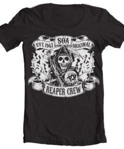 T-Shirt col large SOA - Original Reaper Crew de couleur Noir