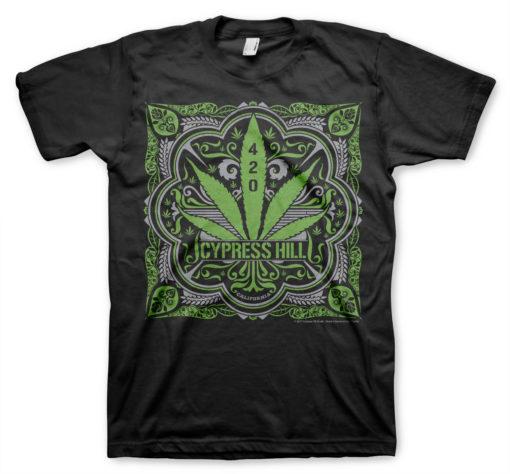 T-Shirt Cypress Hill - 420 de couleur Noir