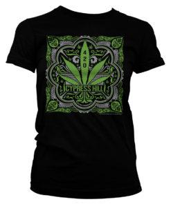 T-Shirt Cypress Hill pour femme avec feuille de cannabis