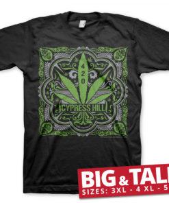T-shirt Cypress Hill - 420 grandes Tailles de couleur Noir