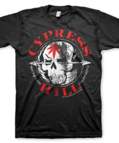 T-Shirt Cypress Hill South Gate - California de couleur Noir