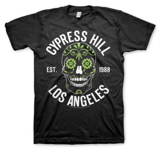 T-Shirt Cypress Hill - Sugar Skull de couleur Noir
