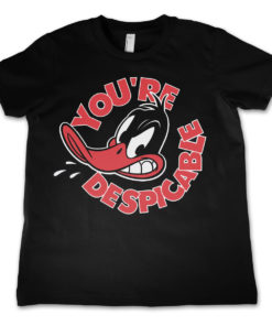 T-Shirt Daffy Duck - You're Despicable  pour enfant de couleur Noir