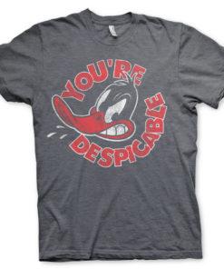 T-Shirt Daffy Duck - You're Despicable de couleur Gris Sombre
