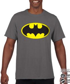 T-Shirt de sport Batman Signal anti-transpi pour homme de couleur Gris Foncé