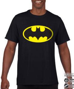T-Shirt de sport Batman Signal anti-transpi pour homme de couleur Noir