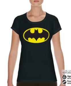 T-Shirt de sport Batman Signal pour femme de couleur Noir