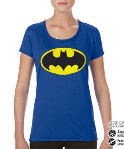 T-Shirt de sport Batman Signal pour femme de couleur Bleu