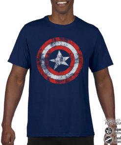 T-Shirt de sport Captain America Shield anti-transpi pour homme de couleur