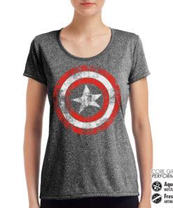 T-Shirt de sport Captain America Shield pour femme de couleur