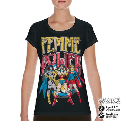 T-Shirt de sport Femme Power pour femme de couleur Noir