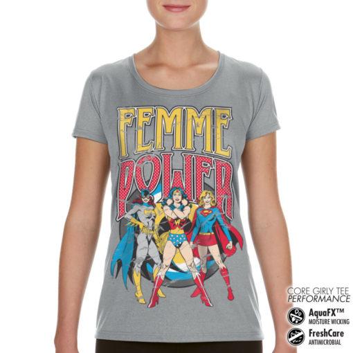 T-Shirt de sport Femme Power pour femme de couleur Gris