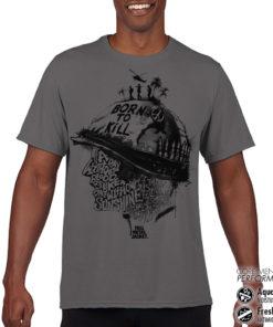 T-Shirt de sport Full Metal Jacket Sayings anti-transpi pour homme de couleur Gris Foncé