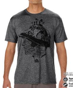 T-Shirt de sport Full Metal Jacket Sayings anti-transpi pour homme de couleur Gris Noir Chiné