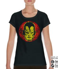 T-Shirt de sport Iron Man Icon pour femme de couleur Noir
