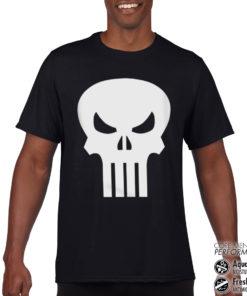 T-Shirt de sport Marvel Comics - The Punisher Skull anti-transpi pour homme de couleur Noir