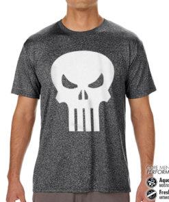 T-Shirt de sport Marvel Comics - The Punisher Skull anti-transpi pour homme de couleur
