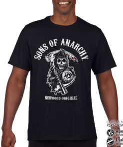 T-Shirt de sport Sons Of Anarchy - Redwood Original anti-transpi pour homme de couleur Noir