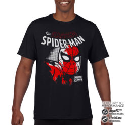 T-Shirt de sport Spider-Man Close Up anti-transpi pour homme de couleur Noir