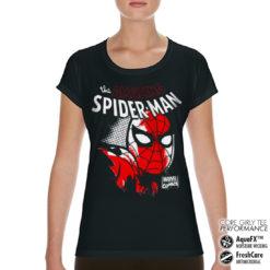 T-Shirt de sport Spider-Man Close Up pour femme de couleur Noir