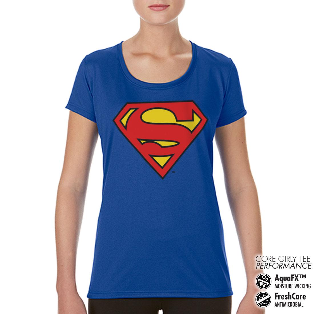 t shirt de sport superman shield pour femme achat de t. Black Bedroom Furniture Sets. Home Design Ideas