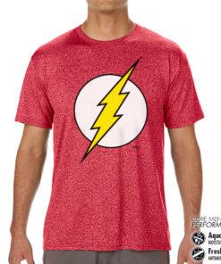 T-Shirt de sport The Flash Emblem Performance Mens anti-transpi pour homme de couleur Rouge Pale
