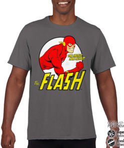 T-Shirt de sport The Flash - Fastest Man Alive Performance Mens tee anti-transpi pour homme de couleur Gris Foncé