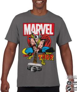 T-Shirt de sport The Mighty Thor anti-transpi pour homme de couleur Gris Foncé