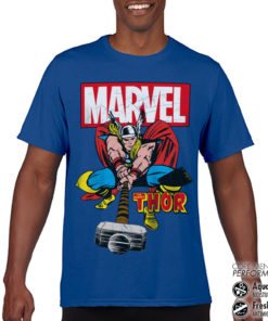 T-Shirt de sport The Mighty Thor anti-transpi pour homme de couleur Bleu