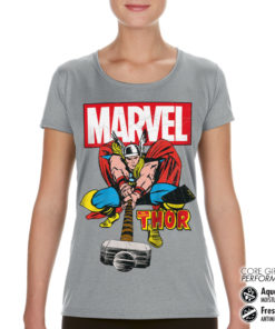 T-Shirt de sport The Mighty Thor pour femme de couleur Gris