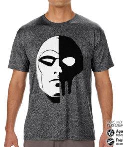 T-Shirt de sport The Phantom Icon Head anti-transpi pour homme de couleur Gris Noir Chiné